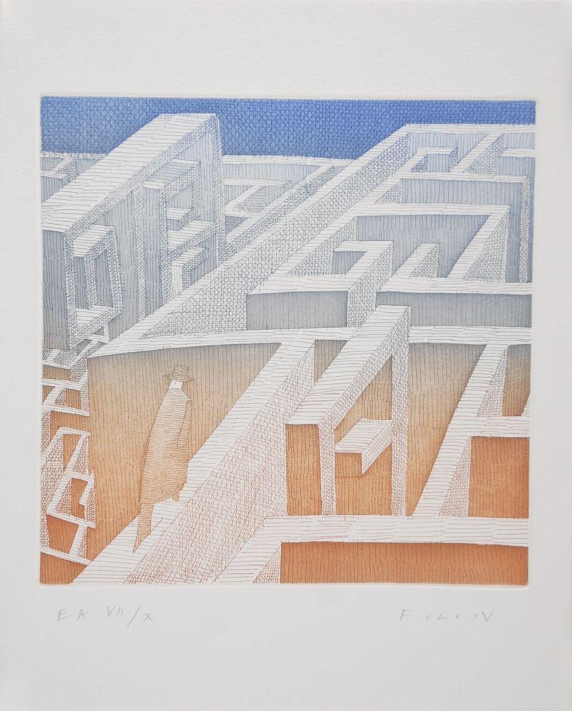 Aguafuerte Y Aguatinta Folon - Labyrinthe