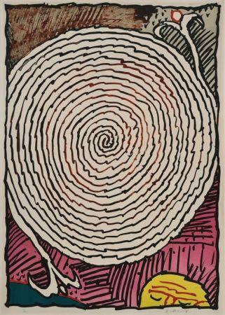 Litografía Alechinsky - Labyrinthe d'apparat IV