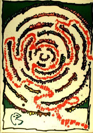 Litografía Alechinsky - Labyrinthe d'apparat V