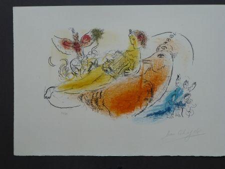 Litografía Chagall - L'accordéoniste , 1957