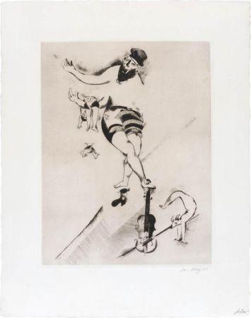 Aguafuerte Chagall - L'acrobate au violon