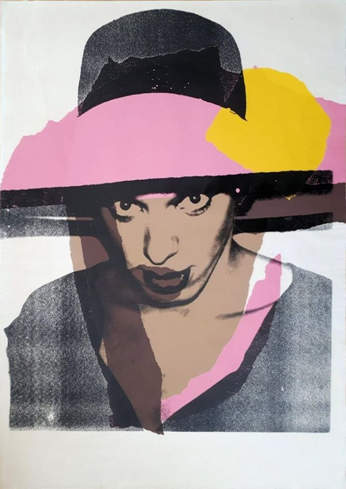 Serigrafía Warhol - Ladies & Gentlemen : The pink hat