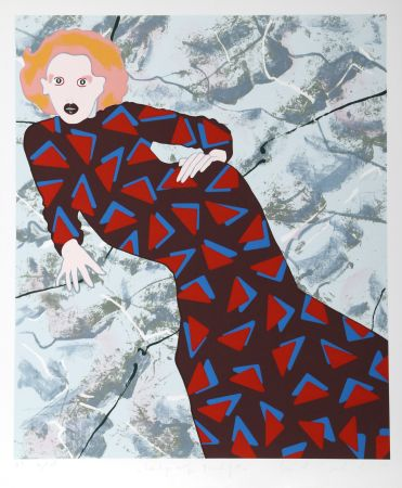 Serigrafía Kogelnik - Lady and Triangles
