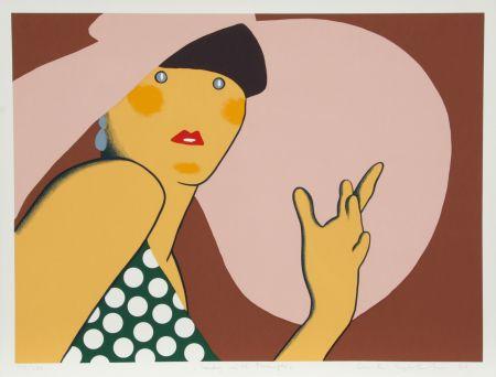 Serigrafía Kogelnik - Lady with Hat