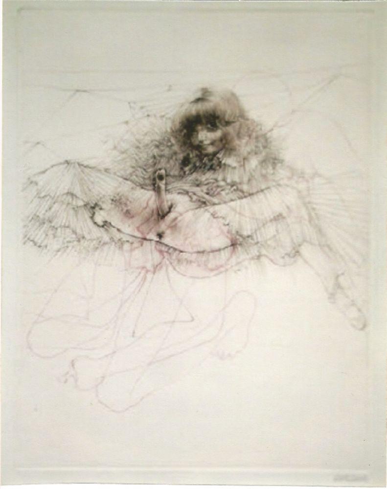 Aguatinta Bellmer - L'aigle mademoiselle
