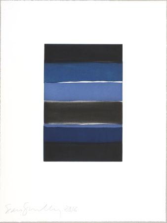 Aguatinta Scully - Landline (blue)