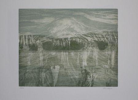 Grabado En Madera Wolf - Landschaft