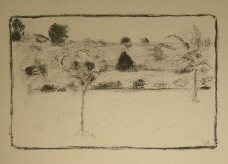 Litografía Amiet - (Landschaft mit Bäumen)