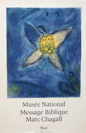 Litografía Chagall - '' L'Ange au Chandelier ''