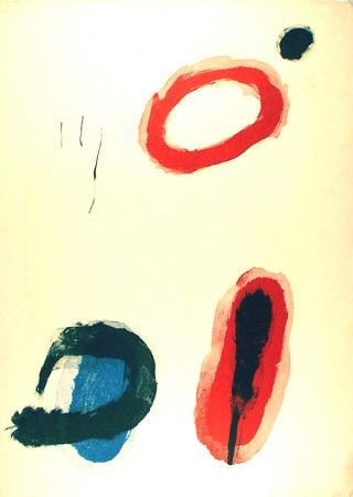 Litografía Miró - L'anneau