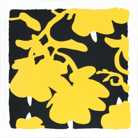 Serigrafía Sultan - Lantern Flowers (Yellow/black)