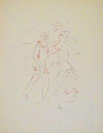 Litografía Cocteau - L'après-midi d'un faune (Debussy)