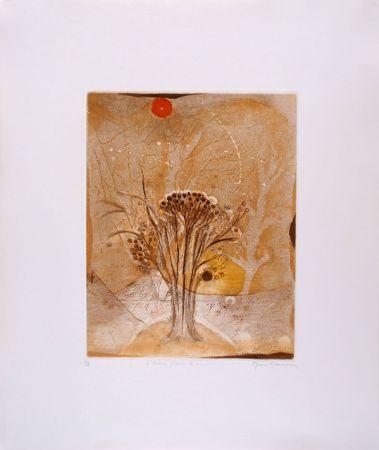 Aguafuerte Y Aguatinta Carcan - L'arbre fleur 2 (Receuil : Les arbres en vacances)