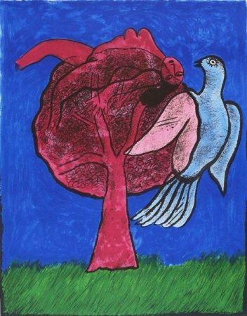Litografía Corneille - L'Arbre Rouge