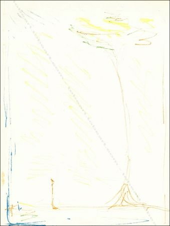 Linograbado Giacometti - L'arbre / The Tree.
