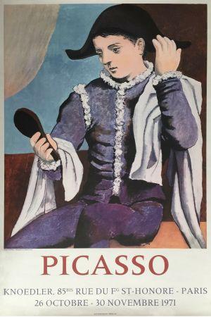 Litografía Picasso - '' L'Arlequin au Miroir ''