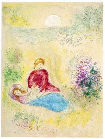 Litografía Chagall - L'Arondelle (The Little Swallow from Daphnis & Chloé - 1961)