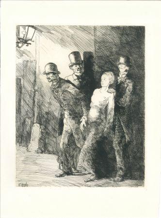 Grabado Naudin - L'arrestation