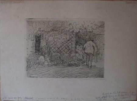 Aguafuerte Laboureur - L'Arrosoir
