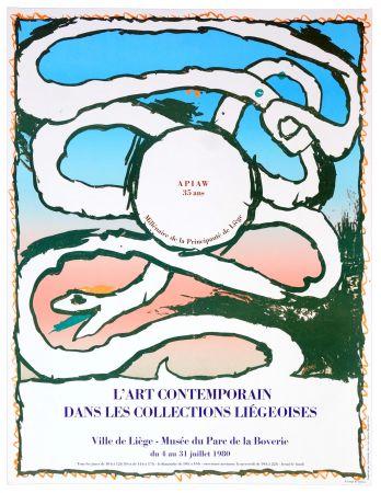 Cartel Alechinsky - L'art contemporain dans les collections liégeoises, 1980