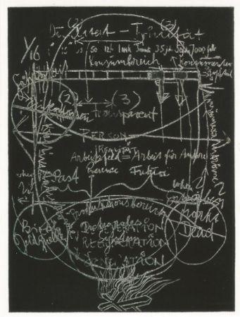 Aguatinta Beuys - L'arte è una zanzara dalle mille ali - III