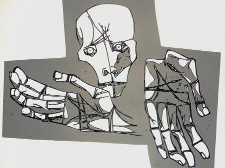 Grabado Guayasamin - Las manos desoladas