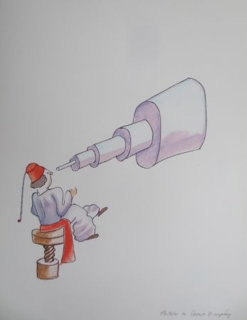 Litografía Saint-Exupéry - L'astronome
