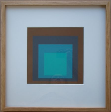 Serigrafía Albers - Late Forest - Homage to the Square