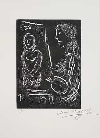 Linograbado Chagall - L'atelier