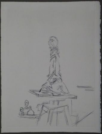 Aguafuerte Giacometti - L'Atelier à la selette I. (Studio with the turntable)