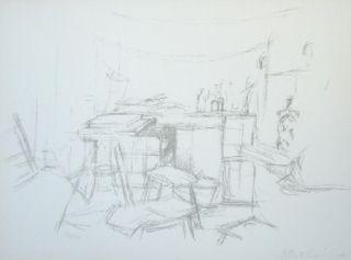 Litografía Giacometti - L'atelier Aux Bouteilles