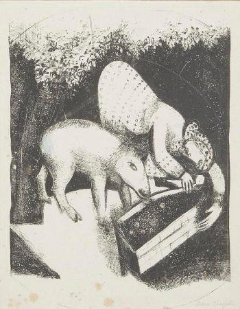 Litografía Chagall - L'auge