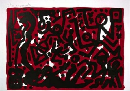 Litografía Penck - Lausanne 2 Aber Hallo