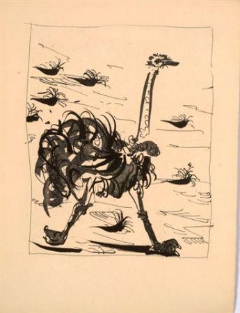 Aguatinta Picasso - L'autruche