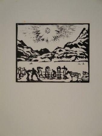 Grabado En Madera Giacometti - Lavoratori del ghiaccio, die Eisbrecher