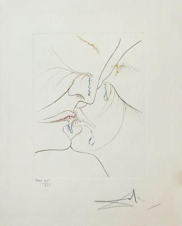 Aguafuerte Dali - LE BAISER (THE KISS)