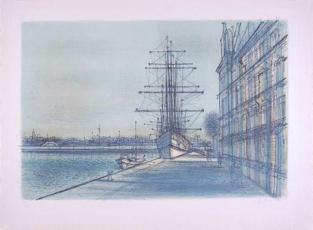 Litografía Carzou - Le Bateau école à Venise
