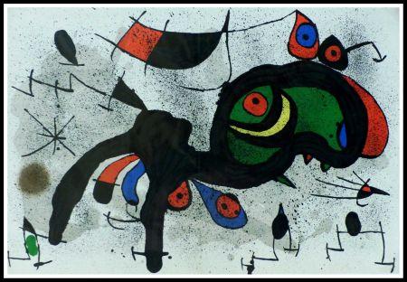 Litografía Miró - LE BELIER FLEURI