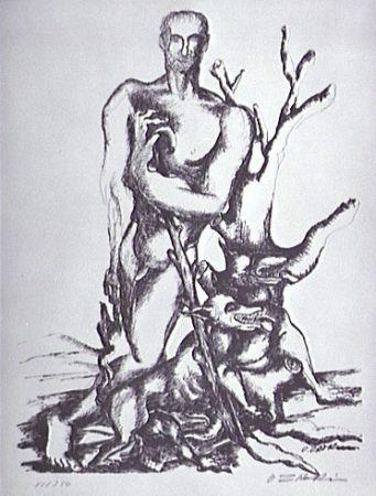 Litografía Zadkine - Le berger de Gerion