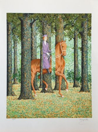 Litografía Magritte - Le Blanc-Seing