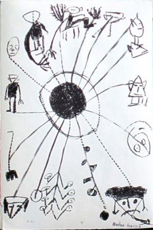 Litografía Ionesco - Le blanc et le noir 4
