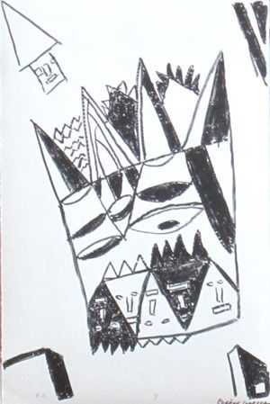 Litografía Ionesco - Le blanc et le noir 9
