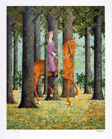 Litografía Magritte - Le blanc seing