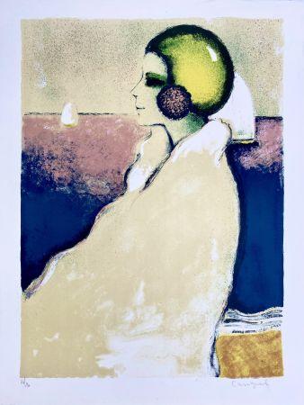 Litografía Cassigneul  - Le Bonnet de Bain