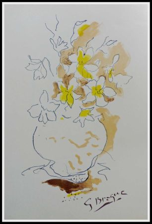 Litografía Braque (After) - LE BOUQUET