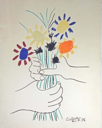 Litografía Picasso - Le Bouquet