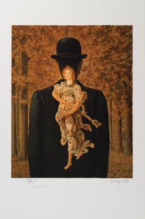 Litografía Magritte - Le Bouquet