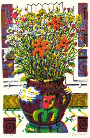 Litografía Boisrond - Le Bouquet
