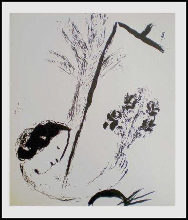 Litografía Chagall - LE BOUQUET A LA MAIN