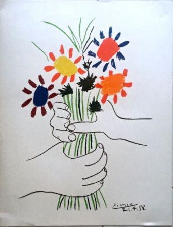 Litografía Picasso - Le Bouquet De Fleurs